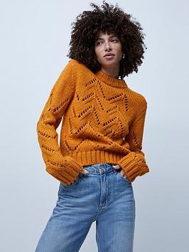 french-connection-josette-crew-neck-jumper-orange
