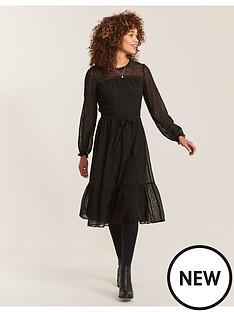fatface-monica-spot-mesh-dress-black