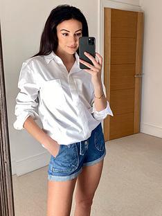 michelle-keegan-staple-white-cotton-shirt-white