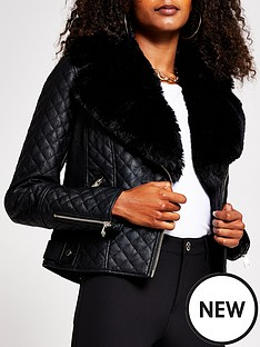 river-island-faux-fur-quilted-punbspbiker-jacket-black