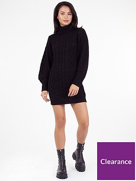 brave-soul-knitted-dress-black