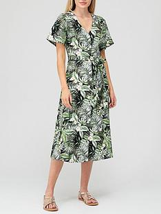 v-by-very-button-through-midi-dress-palm-printnbsp
