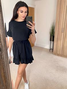 michelle-keegan-cupro-jersey-dress-black