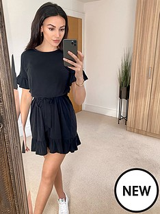 michelle-keegan-cupro-jersey-dress-black