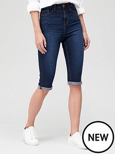 v-by-very-sydney-longline-skinny-shorts-dark-wash