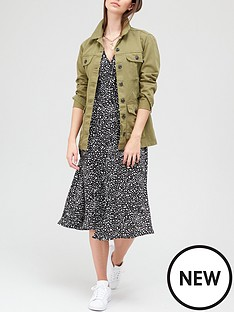 v-by-very-button-down-short-sleeve-midi-dress-printnbsp