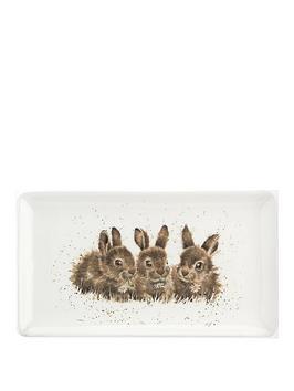 royal-worcester-wrendale-rabbits-rectangular-tray