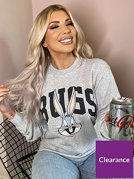 in-the-style-in-the-style-x-oliva-bowen-grey-marl-bugs-bunny-oversize-sweater