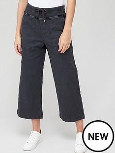 v-by-very-knit-trim-slub-crop-trouser-charcoal
