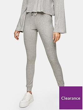 topshop-brush-rib-joggers-grey