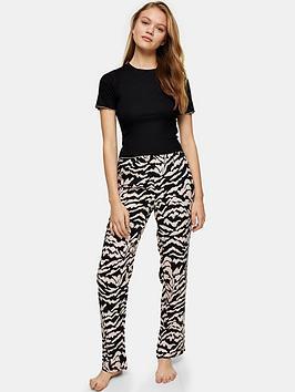 topshop-zebra-jersey-pyjamanbspset-blackwhite