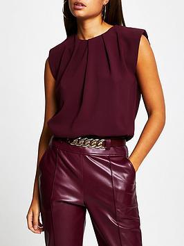 river-island-shoulder-pad-blouse-burgundy