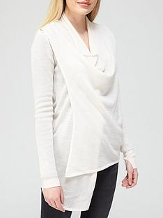 allsaints-drina-ribbed-cardigan-white