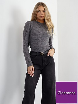 brave-soul-roll-neck-puff-sleeve-top