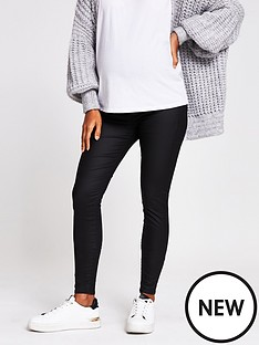 river-island-maternity-overbump-coated-molly-jegging-black