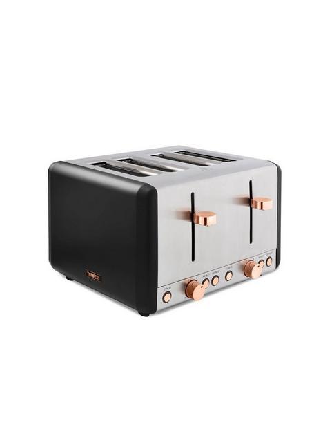 tower-cavaletto-4-slice-toaster-black-amp-rose-gold