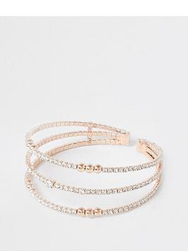 river-island-triple-layered-stone-bracelet-rose-gold