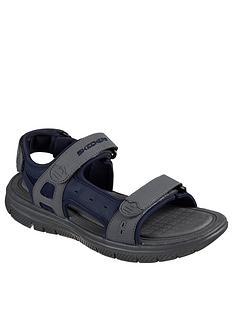 skechers-adjustable-strap-sandal-with-memory-foam-navygrey