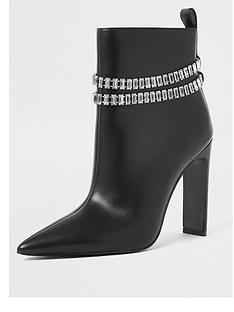 river-island-leather-chain-detail-high-heeled-boot-black