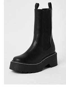 river-island-clean-gusset-chunky-boot-black