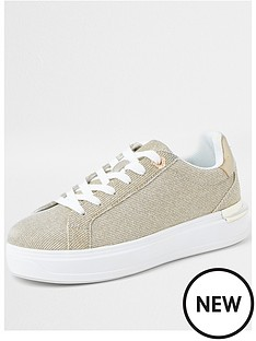 river-island-gold-metallic-trainer-gold