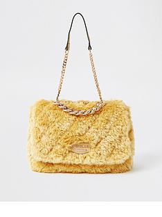 river-island-fluffy-quilted-shoulder-bag-yellow