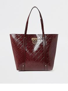 river-island-embossed-shopper-berry