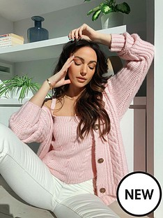 michelle-keegan-cable-slouchy-cardigan-co-ord-pink