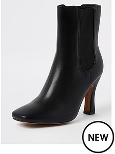 river-island-gusset-skinny-heel-boot-black