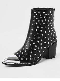 river-island-studded-western-boot-black