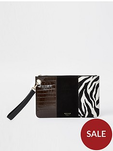 river-island-zebra-panelled-clutch-bag-black
