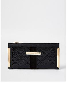 river-island-patent-embossed-metal-corner-purse-black