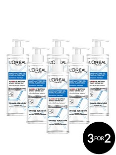 loreal-paris-anti-bacterial-hand-sanitiser-with-pump-70-alcohol-large-390ml-pack-of-6