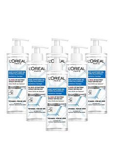 loreal-paris-loreal-anti-bacterial-hand-sanitiser-with-pump-70-alcohol-large-390ml-pack-of-6