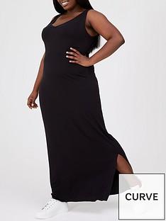 v-by-very-curve-side-split-jersey-maxi-dress-blacknbsp