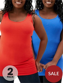 v-by-very-curve-2-pack-longline-vest-redblue