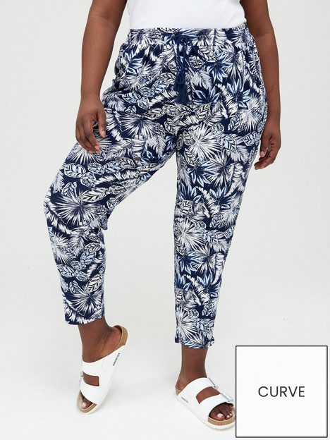 v-by-very-curve-jersey-tapered-leg-trouser-navy-print
