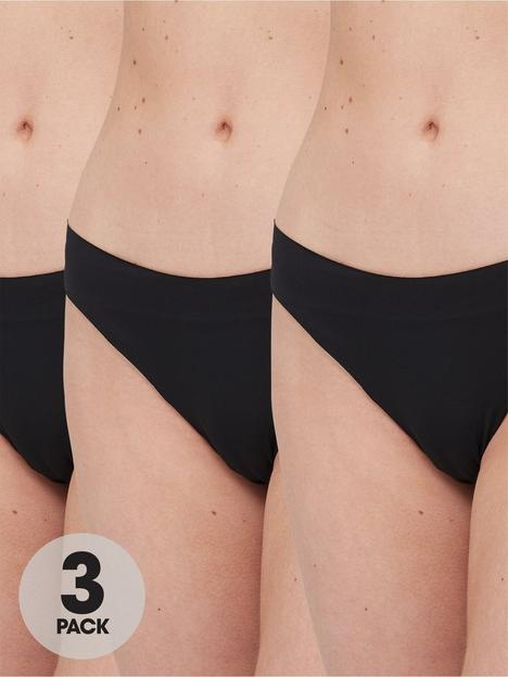 brave-soul-3-pack-seamfree-thongs-black