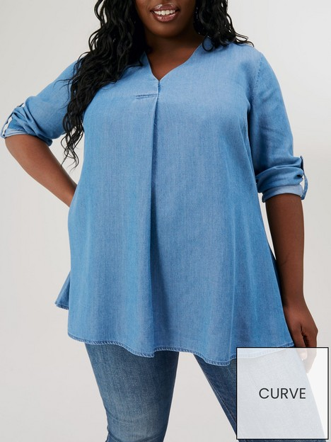v-by-very-curve-soft-touch-denim-tunic-blue