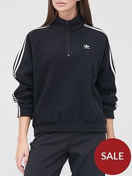 adidas-originals-fleece-half-zip-black