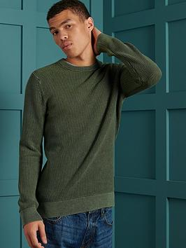 superdry-superdry-academy-dyed-texture-crew-sweatshirt-green