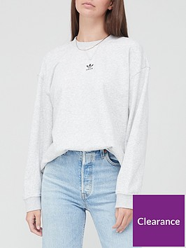 adidas-originals-trefoil-essentials-sweatshirt-light-grey-heather