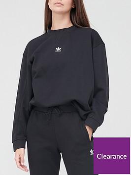adidas-originals-trefoil-essentials-sweatshirt-black