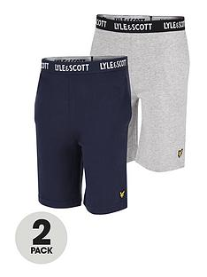 lyle-scott-boys-2-pack-lounge-shorts-navy