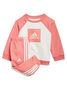 adidas-infant-3-stripe-logo-jogger-set-pinkwhitenbsp