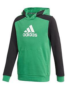 adidas-boys-badge-of-sportnbsphoodie-green