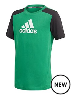 adidas-boys-badge-of-sport-t-shirt-greenblack