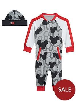 adidas-infant-disney-mickey-mouse-babygrow-greyblack
