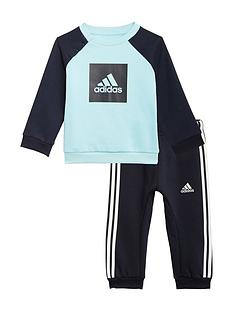 adidas-infant-3-stripe-logo-jogger-set-bluegreynbsp