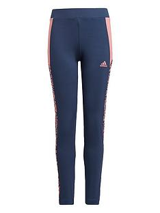 adidas-girls-leo-tights-navypink